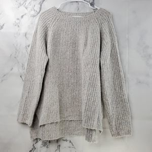Honey Punch Crew Neck Chunky Elbow Patch Sweater